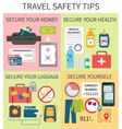 Travel safety tips vector image vector image