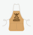 vintage baker apron with mill emblem vector image