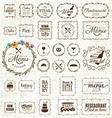 Vintage Restaurant Menu and Bakery Frame Set vector image vector image
