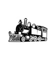 vintage steam train locomotive vector image vector image