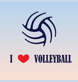 volleyball love background vector image vector image