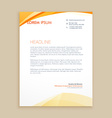 wavy business letterhead design vector image vector image