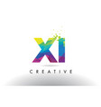 xi x i colorful letter origami triangles design vector image vector image