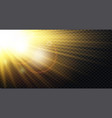 yellow warm light effect sun rays beams vector image vector image