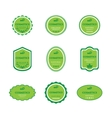Set of labels for bio cosmetics vector image