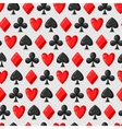 Seamless pattern of casino red and black card vector image