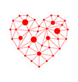 red triangular heart icon vector image