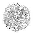 abstract elements mandala coloring page tribal vector image