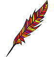 abstract feather vector image vector image