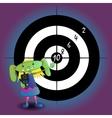 alien girl with gun vector image vector image