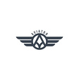 aviator wing theme vector image vector image