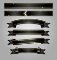 black ribbon banner vector image vector image