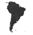 blank political map of south america simple flat vector image vector image