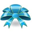blue ribbon bant vector image vector image