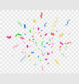 bright confetti party celebrate colorful vector image