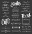 calligraphy chalkboard design elements vector image vector image