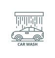 car wash line icon car wash outline sign vector image vector image