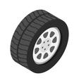 Car wheel isometric 3d icon vector image vector image