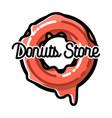 color vintage donuts store emblem vector image vector image