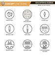 Concept Line Icons Set 7 History vector image vector image