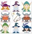 Fantasy heroes set avatars vector image vector image