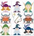 Fantasy heroes set avatars vector image