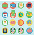 finance icon in flat design vector image vector image