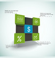 financial cubes infographics vector image vector image