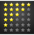 Five Star Checklist Rating On Blackboard vector image