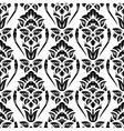 Floral damask wallpaper vector image vector image