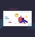 follower express satisfaction in internet website vector image vector image