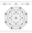 geometric icon magic 5Black vector image vector image