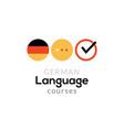 german language school logo course concept vector image vector image