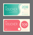 gift voucher coupon template design paper label vector image vector image
