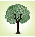 hand drawn tree background vector image vector image