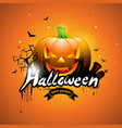 happy halloween with pumpkin vector image vector image