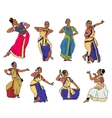 indian dancers vector image