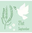 International Day of Peace symbol poster vector image vector image