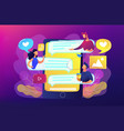 internet forum concept vector image
