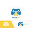 joystick and wifi logo combination gamepad vector image vector image