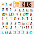 kids children set baby lifestyle vector image