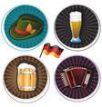 labels with oktoberfest symbols vector image