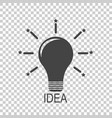 light bulb icon idea flat vector image vector image