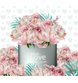 lovely flowers bouquet realistic floral vector image vector image