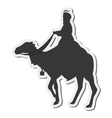 magi with camel silhouette icon vector image vector image