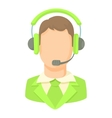 Man with a headset icon cartoon style vector image vector image