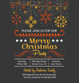 merry christmas greeting card - party invitation vector image vector image