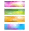 Mosaic banner set vector image vector image