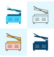 panini grill icon set in flat and line styles vector image