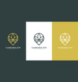 pin cannabis logo design vector image